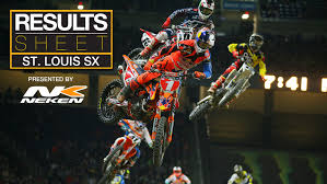 ama motocross results results sheet st louis supercross motocross feature stories