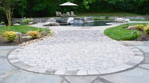 Stone Patio Images by Before And After Stone Patio And Pool Deck Transformation In