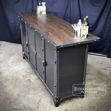 Metal Bar Cabinet Home Bar Cabinet Height Liquor Spirits Modern Industrial