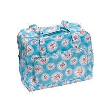 value vinyl sewing machine bag cameo floral blue haberdashery online