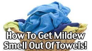 how to get mildew smell out of towels youtube