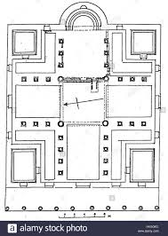 church floor plan plan of the church of the prophets apostles and martyrs in jerash
