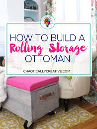 Rolling Ottoman With Storage by Diy Rolling Storage Ottoman Chaotically Creative