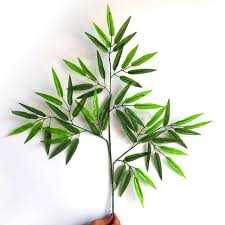 aliexpress buy 12pcs artificial bamboo leaf plants plastic
