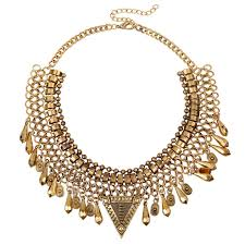 big statement necklace images New big brands triangle gypsy style collares vintage metal jpg