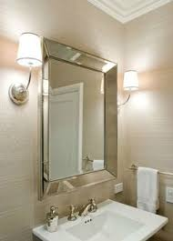 Beveled Bathroom Vanity Mirror Modern Led Aluminum Wall L Bathroom Mirror Lights Sconce