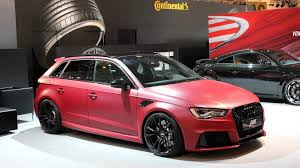 audi modified abt brings modified audi rs3 tts coupe and vw passat variant to essen