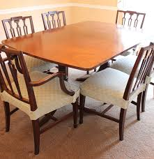 duncan phyfe style veneered mahogany dining table and chairs ebth