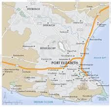 map port greater port elizabeth region map south africa