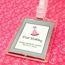 luggage tag favors kids birthday acrylic luggage tag favor