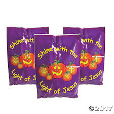 oriental trading company halloween christian pumpkin trick or treat bags