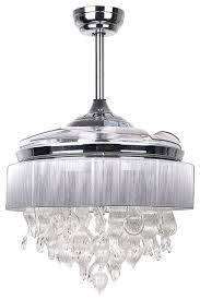 Remote Controlled Chandelier Decorative Crystal Chandelier With Fan Function And Remote