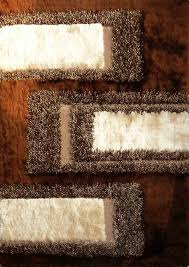 brown contemporary circles shaggy area rug unique orange beige