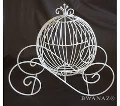 princess carriage centerpiece wire cinderella carriage white 12 x7 x12 wedding party