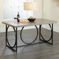 american urban metal rectangle pedestal dining table hayneedle