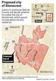 Atl Map Election 2016 City Of Stonecrest Incorporation Approved