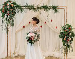wedding arbor etsy copper wedding arch etsy