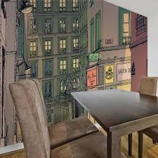 wall mural breakfast in paris