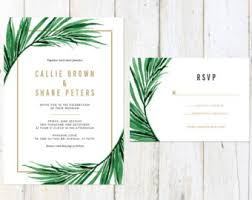 palm tree wedding invitations tropical wedding invitation etsy