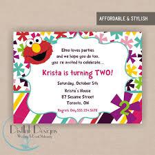 items similar to elmo birthday party invitation printable 5x7