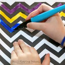 chevron pre writing easter egg craft for kids still playing
