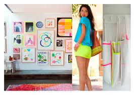 neon new fashion and home decor trend decouvrirdesign