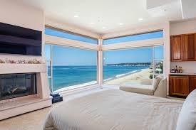 Master Bedroom Fireplace Malibu Beachfront Home Master Bedroom Fireplace View