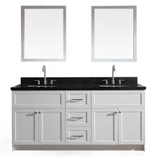 double sink granite vanity top shop ariel hamlet white undermount double sink bathroom vanity with