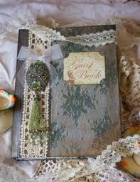 Shabby Chic Wedding Guest Book by Fairytale Wedding Guest Book Wedding Scrapbook Photo Album Shabby