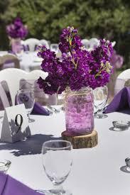 Simple Wedding Centerpieces Ideas by Simple Purple Stock Centerpieces In Mason Jars Floral Design