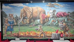 the epic bizarre epically bizzare auburn mural in firehouse subs