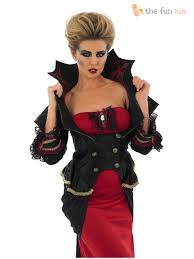 deluxe ladies vampire costume gothic halloween fancy dress womens