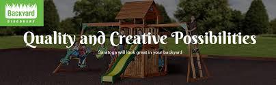 Amazon Backyard Playsets - amazon com backyard discovery saratoga all cedar wood playset