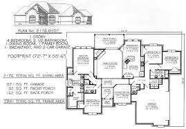 4 bedroom 1 story house plans 4 bedroom 1 story 2300 square