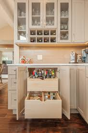 Built In Kitchen Cabinet Magnificent Locking Liquor Cabinet In Kitchen Transitional With
