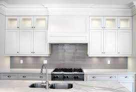 tile backsplashes kitchens ivory painted cabinets dark brown