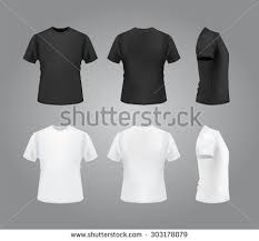 t shirt template blank white set graphics all free web