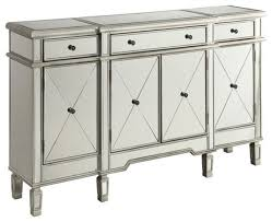 bowery hill mirrored wine rack sideboard silver buffets and