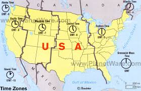 usa map time zone map us map