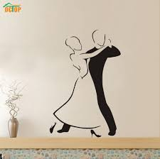 online shop modern women and man social dance wall