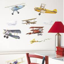 wall stickers murals roommates repositionable childrens wall stickers vintage planes