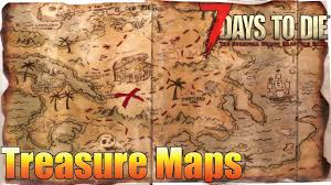 World Treasure Map by 7 Days To Die How To Find Buried Treasure Alpha 15 Youtube