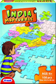 India States Map Buy Frank India Map Puzzle Multi Color Online At Low Prices In