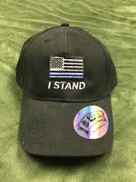 Black Flag Hat Black U201ci Stand U201d Thin Blue Line Flag Hat U2013 Hat Jockey