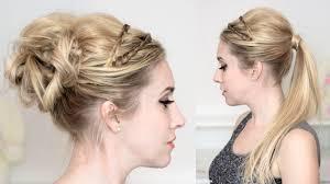 lilith moon youtube braided headband prom wedding party hairstyles medium long hair