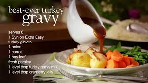 slimming world usa healthy thanksgiving turkey and gravy recipe