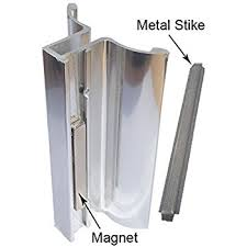 Magnetic Shower Door Catch Bright Chrome Shower Door U Channel With Metal Strike And Magnet