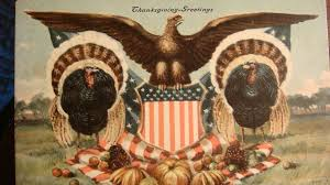 patriotic thanksgiving 1908 signed postcard american eagle shield