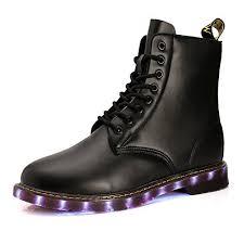 light up shoes for adults men venshine light up shoes combat boots usb charging led shoes for men