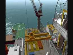 Pedestal Crane Offshore Crane Simulation Youtube